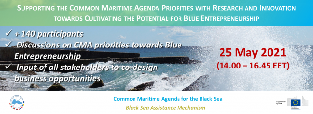 Post- Webinar on Research and Innovation towards Cultivating the Potential for Blue Entrepreneurship - Κεντρική Εικόνα